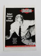 Carte Postale LIBERATION Journal Décès De Robert Bresson - Francese