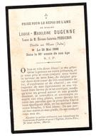 Souvenir Décès Le Blanc 36 Indre 1898 - Old Paper