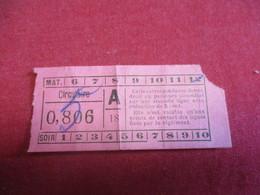 Tramway Ticket Ancien Usagé/Origine à Déterminer/CIRCULAIRE//Matin-Soir/Vers 1920-1940  TCK126 - Tram