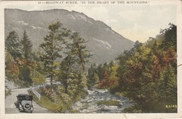 """A Roadway Scene """"in The Heart Of The Mountains"""" Blue Ridge - Passenger Cars"""
