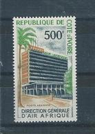 Timbre N° 37 P. A.  Inauguration De La Direction Générale D'Air Afrique Valeur 12 - Costa D'Avorio (1960-...)