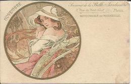NOVEMBRE , Souvenir De La Belle Jardinière , Succursale De MARSEILLE , Illustrateur : Alphonse MUCHA - Mucha, Alphonse