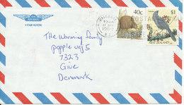 New Zealand Air Mail Cover Sent To Denmark Waikanae 27-1-1989 - Airmail