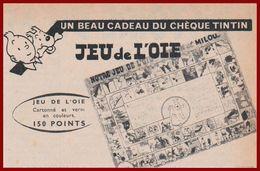Grace Aux Chèques, Chèque,  Tintin, Recevez Un Beau Cadeau, Un Jeu De L'oie. 1960. - Pubblicitari
