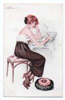 (Illustrateurs) 1053, Meunier S Meunier, Marque LE Paris Série 52 N° 1, Décolletés Parisiens, Femme Sexy - Meunier, S.