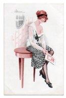 (Illustrateurs) 1056, Meunier S Meunier, Marque LE Paris Série 52 N° 4, Décolletés Parisiens, Femme Sexy - Meunier, S.