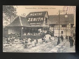 Exposition Nancy. Le Village Alsacien. La Taverne. Publicité Montré Zénith. Tampon Joaillerie Ronga - Nancy