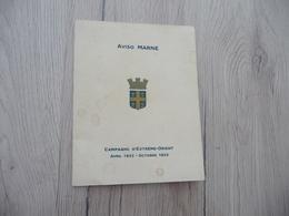 Carte  Aviso Marne Marine En Indochine Campagne D'Extrême Orient Avril 193/ Octobre 1933 Avec Carte - Bateaux