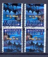 Belgium Belgie 4 Stamps 2013 - OBP Nr: 4382 A , B ,c  / Oblitéré - Noel Kerstmis Christmas - Kerstzegel - Gestempeld - Belgique