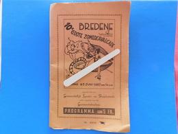 Bredene Super Livret De La 10 Eme Cavalcade En 1957 Bredenne 4 D - Bredene