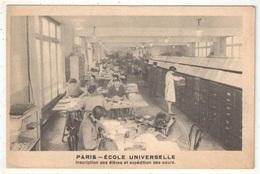 75 - PARIS - Ecole Universelle - Inscription Des élèves Et Expédition Des Cours - Enseignement, Ecoles Et Universités