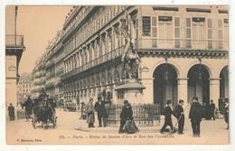 75 - PARIS 1 - Statue De Jeanne D'Arc Et Rue Des Pyramides - PM 270 - Arrondissement: 01