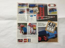 LEGO  NUOVO MOTORE A BATTERIA DEPLIANT. - Catalogs