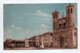- CPA CAZÈRES (31) - Place De L'Eglise 1932 - Edition Bazar, Hôtel De Ville N° 7 - - Other Municipalities