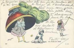 Cpa Signée X. Sager – La Mode En 1909 ( Femme Chapeau, Diabolo ) - Sager, Xavier