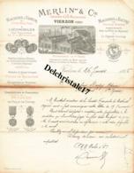 18 VIERZON - 1885 - MACHINES À VAPEUR & LOCOMOTIVES POUR L'AGRICULTURE MERLIN & CIE CONSTRUCTEURS MÉCANICIENS - 1800 – 1899