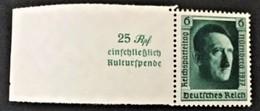 1937 Hitlerkopf Mi. 648**) Mit Anhängsel Links - Allemagne