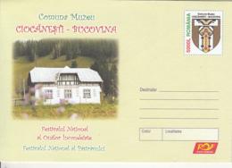 85556- CIOCANESTI BUKOVINA PAINTED EGGS NATIONAL FESTIVAL, TROUT, COVER STATIONERY, 2005, ROMANIA - Postwaardestukken