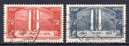 1936 FRANCE WAR VICTIMS MEMORIAL MICHEL: 322-323 USED - Gebraucht