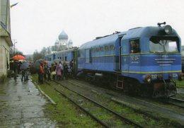 Diesel Locomotive No. TU2 034 Of Borsavalley Railway (Ukrainian Railways) At Irsava In 2008  -  CPM - Trains