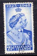 Falkland Islands GVI 1948 Silver Wedding RSW 2½d Value, Used, SG 166 - Falklandeilanden