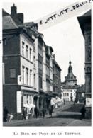 1929 : Photo, Belgique, Namur, La Rue Du Pont Er Le Beffroi - Vieux Papiers