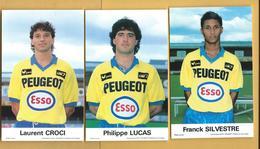 3 Cartes Footballeurs Français - Soccer