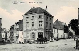 Fosses Place Des 4 Bras V.P.F. Avec Le Café Du Midi EtLenoir-Delaire Négociant En Bois Avec Attelage - Fosses-la-Ville