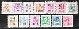 PRE712/24**  Chiffre Sur Lion - Année 1961 - Série Complète - MNH** - LOOK!!!! - Préoblitérés