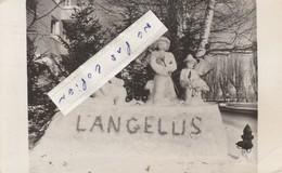 TROIS RIVIERES - Bonhomme De Neige L'ANGELUS   ( Carte-photo écrite En 1959 )  à Destination De Vierzon - Cher En France - Trois-Rivières