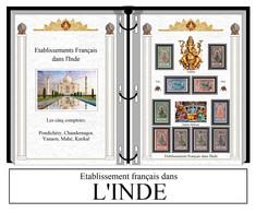 Albums De Timbres à Imprimer   Etablissements FRANÇAIS Dans L'INDE - Zonder Classificatie