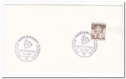 Duitsland, Germany 1967, Garden Show And Postage Stamp, Gladiolus Show - Brieven En Documenten