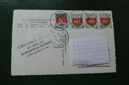 TIMBRES  S/ LA CARTE POSTALE VENDUE POUR LES TIMBRES 1959 - Storia Postale