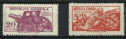 España NE-46 Y 48 Nuevos. Cat.44€ - 1931-Aujourd'hui: II. République - ....Juan Carlos I