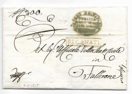 GOVERNO PROVVISORIO AUSTRIACO - DA RECANATI A FALLERONE - 3.7.1815. - 1. ...-1850 Prephilately