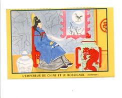 BUVARD BISCOTTES LUC - L'EMPEREUR DE CHINE ET LE ROSSIGNOL - Löschblätter, Heftumschläge