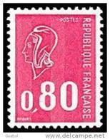 France Marianne De Béquet N° 1816 ** Le 80c Rouge - Taille Douce - 3 Bandes Phosphore - 1971-76 Maríanne De Béquet