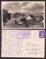 Falkenhain Photokarte Dorfbild Blick Zum Gut Klotz, Fremdenheim üb. Dippoldiswalde Post Kipsdorf 1943 - Dippoldiswalde