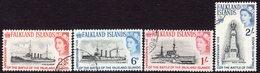 Falkland Islands 1964 50th Anniversary Of Battle Of Falklands Set Of 4, Used, SG 215/8 - Falklandeilanden