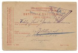 Hungary Russia Censor Mail Zensur WW1 1916  Prisonnniers De Guerre Red Cross To Budapest - 1857-1916 Empire