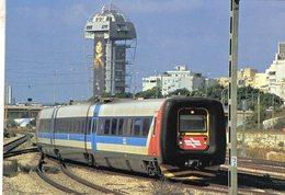 Diesel Trainset No.7223 Of Israel Railways In Tel-Aviv In 2007  -  CPM - Trains