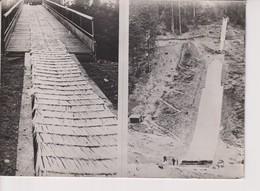 TREMPLIN PLASTIQUE BUSSANG-NOIREGOUTTE. SAUT A SKI. 1961. 18*13 CM - Lugares