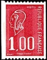 France Marianne De Béquet N° 1895 ** Le 1f00 Rouge De Roulette - 1971-76 Marianne De Béquet