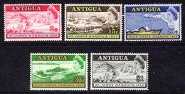 ANTIGUA - 1968 ST JOHN'S DEEP WATER HARBOUR SET (5V) FINE MNH ** SG 221-225 - Antigua & Barbuda (...-1981)