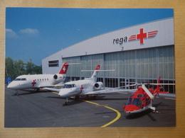 AIRLINE ISSUE / CARTE COMPAGNIE    REGA    CANADAIR CL-601 / HAWKER 800 / AGUSTA A-109 - 1946-....: Modern Era