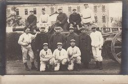 Carte Photo Joigny 1917 105èm Artillerie Lourde Canon - Personaggi