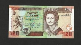 Belize $20 Dollars 1997 P-63a UNC Queen Elizabeth II - Belize