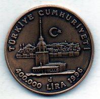 TURKEY, 400.000 Lira, Bronze, Year 1966, KM #1051 - Turkey