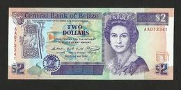 Belize $2 Dollars 1990 AA P-52a UNC Queen Elizabeth II - Belice