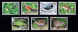 New Zealand 2000 Birds Set Of 7 MNH - New Zealand